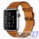 Apple Watch Hermes Series 2, 42 mm Stainless Steel Case with Fauve Barenia Leather Single Tour Band
