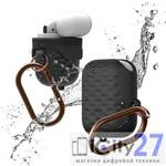Чехол для наушников Apple AirPods Elago Waterproof Active Hang case Black