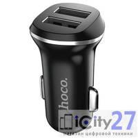 Автомобильное зарядное устройство Hoco Z1 2USB Black