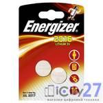 Батарейка Energizer Miniatures Lithium CR2016, 2 шт.