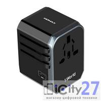 Адаптер питания Momax 1-World AC Travel Adapter Type-C + 4 USB Black