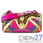 Чехол для iPhone 5/5S Just Cavalli Country Clutch Cover Pink