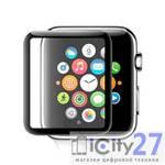 Защитное стекло? для Apple Watch Series 1/2/3 38mm BLUEO 3D Full AB glue HD 0.33 mm Black