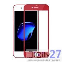 Защитное стекло для iPhone 7 Plus/8 Plus 5D Glass Screen Protector Red