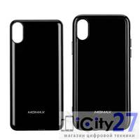 Комплект чехол + внешний аккумулятор с беспроводной зарядкой для iPhone X/XS Momax Q.POWER PACK Magnetic Wireless Battery Case 4000mAh Black