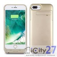 Внешняя батарея-чехол для iPhone 8 Plus/7 Plus Power Bank 4000mAh Gold