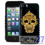 Чехол для iPhone 5/5S Just Cavalli Skull Cover Black