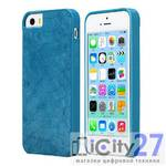 Чехол для iPhone 5/5S Rock Royal Series Leather Blue