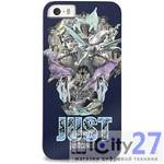 Чехол для iPhone 5/5S Just Cavalli Soft Cover Nouveau Skull