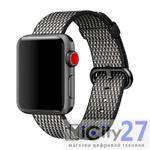 Ремешок для Apple Watch 38mm Dixico Nylon Mosaic Pattern Band Gray/Black