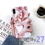 Чехол для iPhone XS Max Marbled Bracket Brown