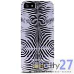 Чехол для iPhone 5/5S Just Cavalli Zebra Silver