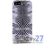Чехол для iPhone 5/5S Just Cavalli Zebra Silver