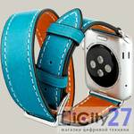 Ремешок для Apple Watch 42mm, Baseus Sunlord leather, Blue