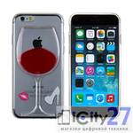 Чехол для iPhone 8 Plus/7 Plus Dixico Liquid Red Wine Cup
