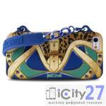 Чехол для iPhone 5/5S Just Cavalli Country Clutch Cover Blue