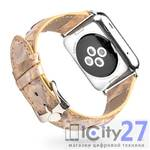 Ремешок для Apple Watch Qialino Leather Snake Band 38mm Beige