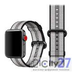 Ремешок для Apple Watch 38mm Dixico Nylon Line Pattern Band Gray/Black