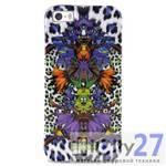 Чехол для iPhone 5/5S Just Cavalli Leopard Flower Violett