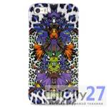 Чехол для iPhone 5/5S Just Cavalli Leopard Flower Violett