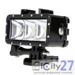 Светодиодный LED фонарь Telesin для GoPro Hero5/4/3